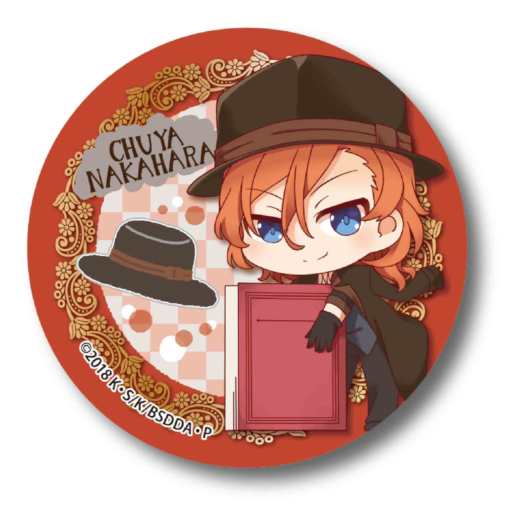 Bungou Stray Dogs DEAD APPLE GyuGyutto Can Badge Nakahara Chuya ... 901af023ceddb