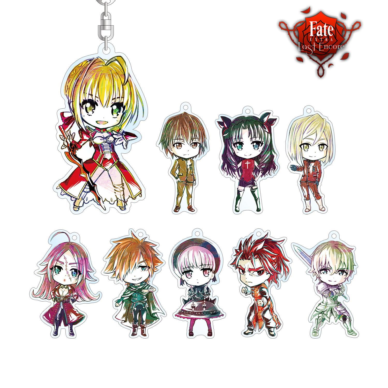 Fate/EXTRA Last Encore Trading Deformed Ani-Art Acrylic Key Chain [SET OF 9]
