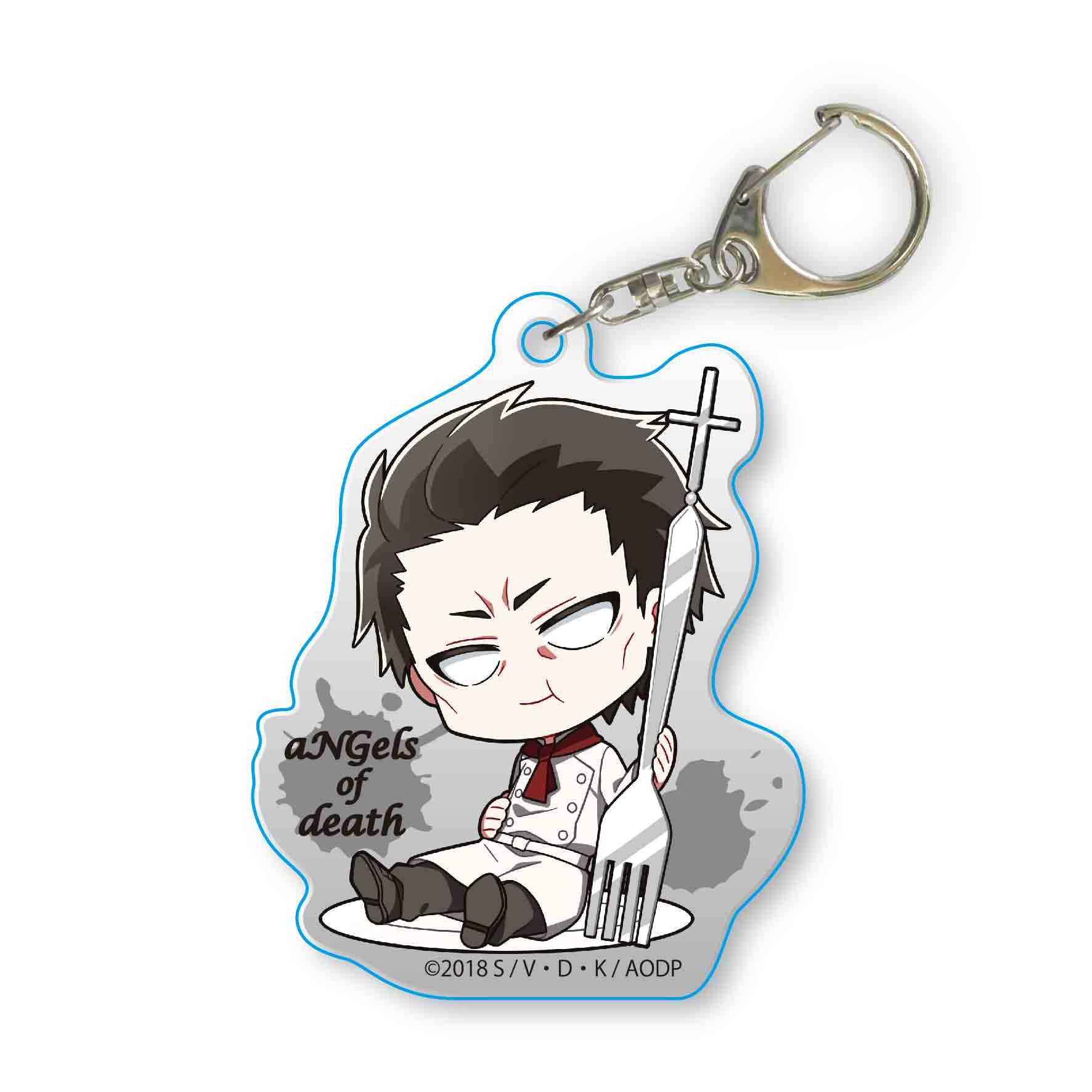 Satsuriku no Tenshi Gochi Chara Acrylic Key Chain Gray